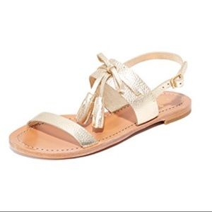 Price Firm. NWOB Kate Spade Gold Carlita Sandals